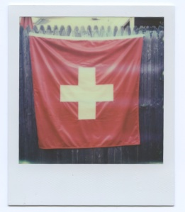 I had to insert a photo of the Swiss Flag - August 1 is Swiss Day.