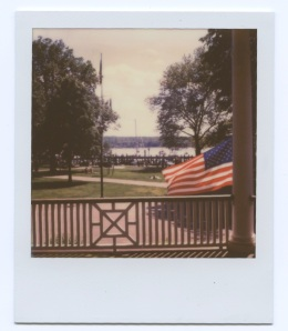 Flag in Northport Harbor